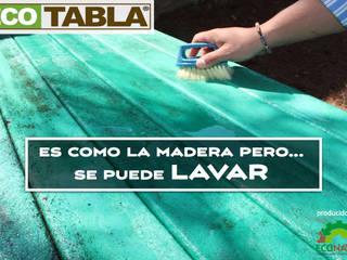 """ECOTABLA """"Madera Plástica"""" de EcoNaval Moderno"""