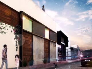 DK 1 : Casas multifamiliares de estilo  por OLIVAS ARQUITECTOS