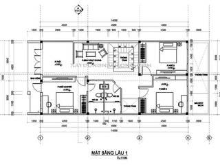 Mẫu thiết kế nhà 7x20 bởi Công ty cổ phần tư vấn kiến trúc xây dựng Nam Long