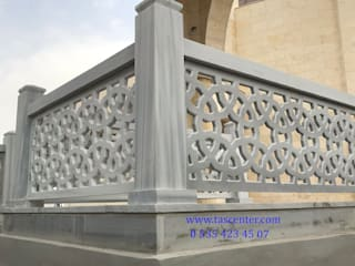 Taşcenter Acarlıoğlu Doğal Taş Dekorasyon Balconies, verandas & terraces Accessories & decoration Marble Grey