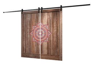 Амбарная дверь на роликовом механизме с нанесением индивидуального орнамента:  в . Автор – Hati Jati,