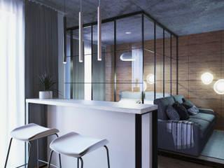 Дизайн-проект студии 37 м.кв. Гостиная в стиле лофт от 2ACH Лофт