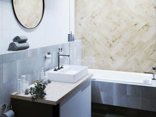 Дизайн-проект студии 37 м.кв. Ванная в стиле лофт от 2ACH Лофт