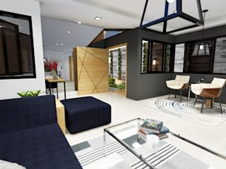 Structura Architects Modern living room