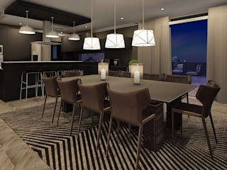Sandton Penthouse Interior Design & Architecture Modern dining room by CKW Lifestyle Associates PTY Ltd Modern