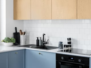 Fuga Architektura Wnętrz Built-in kitchens Blue
