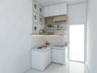 viku Minimalist kitchen White