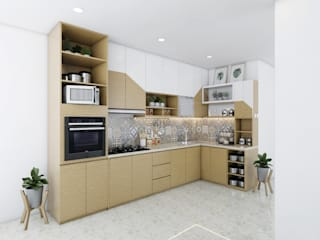 viku Minimalist kitchen Plywood Brown