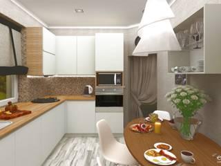 Проекты современных кухонь Кухни в эклектичном стиле от Студия дизайна Elinarti Эклектичный