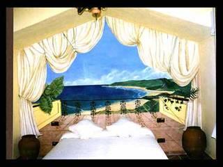 Pintura decorativa de interiores Irmapenna Small bedroom Stone