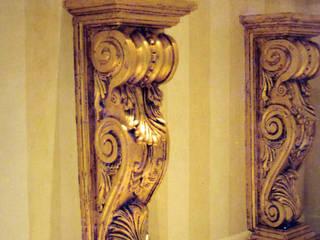 Pintura decorativa de interiores Irmapenna Classic style corridor, hallway and stairs Stone