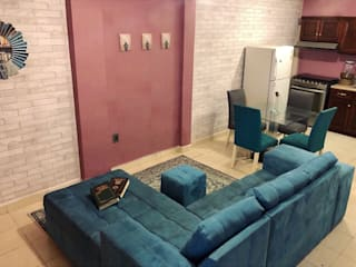 RJE Decor Living room Wood-Plastic Composite Pink