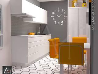 Anny Maciel Interiores - Casa Cor de Riso KitchenCabinets & shelves MDF White