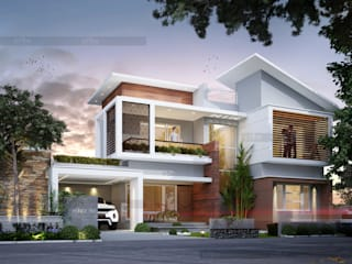 Construction Company In Kochi Asian style houses by CreoHomes Pvt Ltd Asian