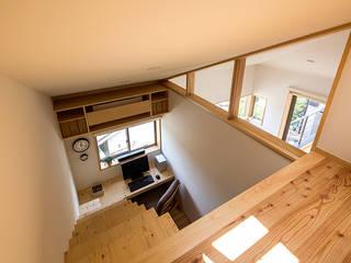 Estudios y despachos de estilo  de 中山大輔建築設計事務所/Nakayama Architects, Moderno