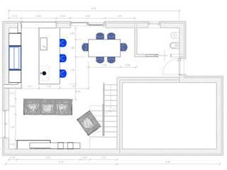 Cucina e Living a Ravenna di G&S INTERIOR DESIGN Moderno