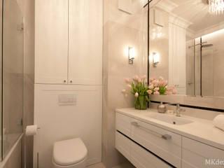 Projekt mieszkania w centrum Warszawy. Nowoczesna łazienka od MKdezere projektowanie wnętrz Nowoczesny