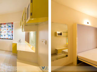 Residence in Hinjewadi, Pune :  Bedroom by VU Design Studio