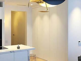 Reforma de Piso en Barcelona Salones de estilo moderno de DA2 ARQUITECTURA Moderno