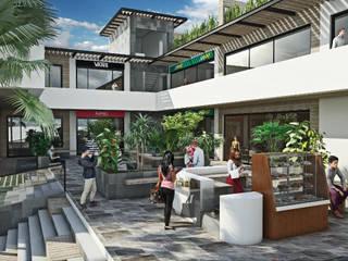 Plaza Comercial Cuernavaca GRUPO WALL ARQUITECTURA Y DISEÑO SA DE CV Casas modernas