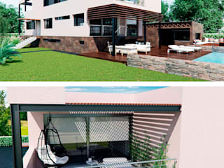 Rehabilitaci´on de nave industrial a vivienda unifamiliar en Alicante: Casas unifamilares de estilo  de Tono Lledó Estudio de Interiorismo en Alicante , Moderno