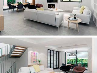 Rehabilitaci´on de nave industrial a vivienda unifamiliar en Alicante: Salones de estilo  de Tono Lledó Estudio de Interiorismo en Alicante ,