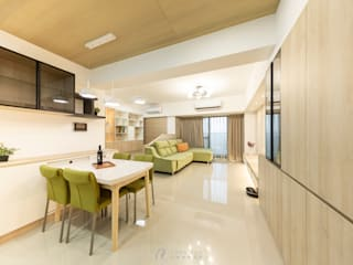 WANG House‧捷運世代:  餐廳 by 元作空間設計