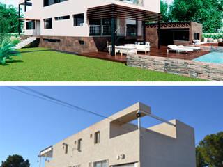 Rehabilitaci´on de nave industrial a vivienda unifamiliar en Alicante:  de estilo  de Tono Lledó Estudio de Interiorismo en Alicante , Moderno