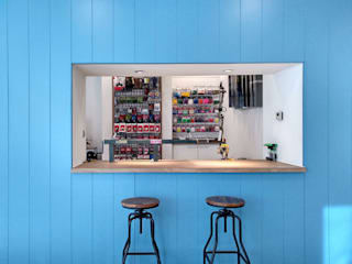 CARMITA DESIGN diseño de interiores en Madrid Коммерческие помещения Дерево Синий