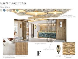 Projecto de Reabilitação de Hotel Figueira da Foz: Hotéis  por Inêz Fino Interiors, LDA,Mediterrânico