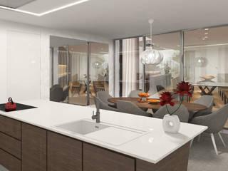 Projecto 3D Cozinha - Moradia - Porto Alpha Details Cozinhas modernas