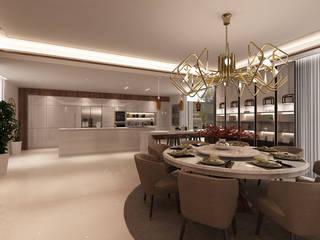 Projecto 3D -Cozinha e Sala de Jantar - Braga Alpha Details Salas de jantar modernas