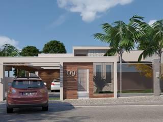 Casa em Brasília - DF: Casas  por 3ak Arquitetura e Design,Minimalista