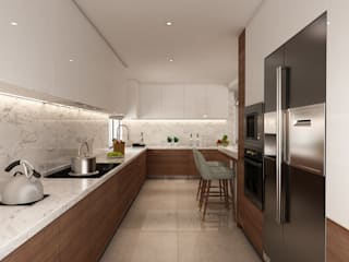 Projecto 3D cozinha, Vila Nova de Gaia Alpha Details Cozinhas modernas
