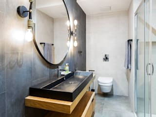 Industrial style bathroom by MG Interior Studio Michał Głuszak Industrial