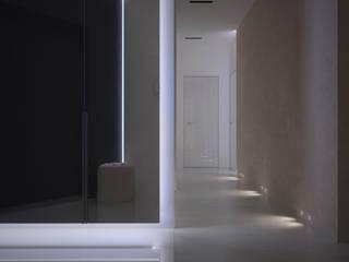 Квартира в ЖК Кольцо Екатерины Dmitriy Khanin Коридор, прихожая и лестница в стиле минимализм Мрамор Белый