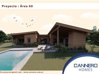 Proyecto A1 - Próximamente en Club de Campo Área 60 Ruta 2: Casas de estilo  por Cannero Homes