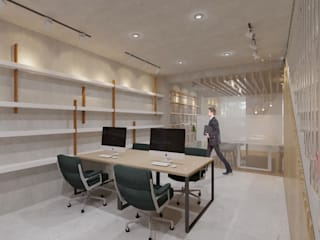 Oficinas de estilo  por TIES Design & Build, Industrial