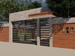 REMODELACIÓN DE FACHADA EXTERIOR: Casas de estilo  por V+C Arquitectura