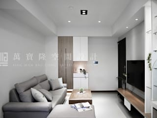 福馨建設-優活II/禾雅. Nordic:  客廳 by SING萬寶隆空間設計