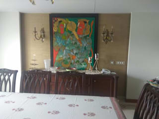 Panchsheela park :  Dining room by Liveup Homes,