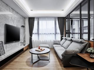 在異鄉思念 现代客厅設計點子、靈感 & 圖片 根據 安提阿設計有限公司 現代風