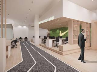 K Commerce Office Koridor & Tangga Minimalis Oleh TIES Design & Build Minimalis