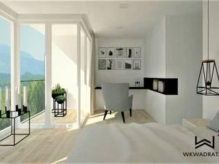 Sypialnia Wkwadrat Architekt Wnętrz Toruń Małe sypialnie Drewno Biały