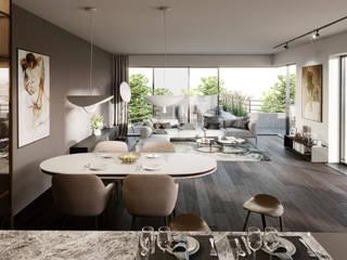 Budynek Mieszkalny wizualizacja wnętrza: styl , w kategorii Dom wielorodzinny zaprojektowany przez Zbigniew Tomaszczyk  Decorum Architekci Sp z o.o.