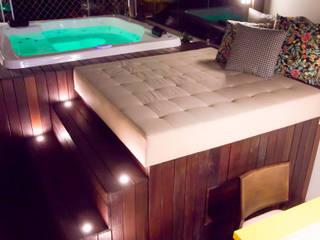 Espaço Gourmet Varandas, alpendres e terraços modernos por Traço design interiores Moderno
