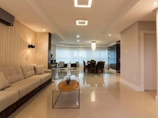 Conceito Clean Salas de estar modernas por Traço design interiores Moderno