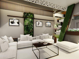 Residential Bungalow design:  Living room by Homes for India,Modern