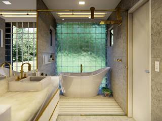 Araújo's House (Brazil) Casas de banho modernas por Project & Building Moderno