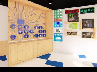 """Loja de Informática """"N'Soluções"""": Lojas e espaços comerciais  por Traço M - Arquitectura,Moderno"""